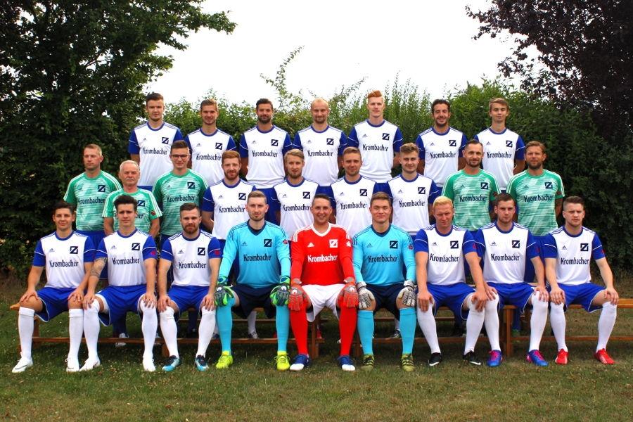 Die 1. Mannschaft des SV-Blau-Weiß Zorbau