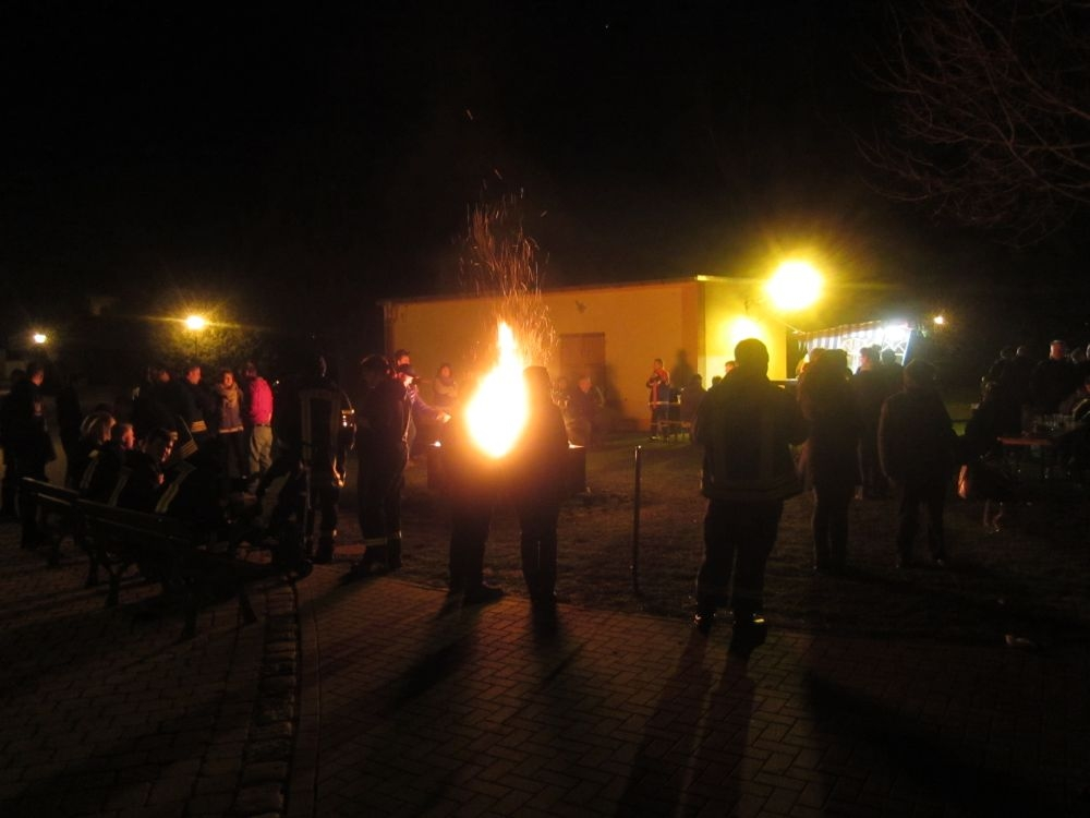 Osterfeuer in Zorbau